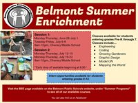Belmont Summer Enrichment 2021