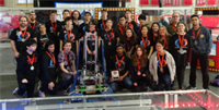 BHS RoboticsTeam with their robot