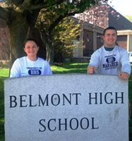 Belmont Boosters April Athletes Meaghan Noone, Girls Softball, and Joe Viale, Boys Rugby