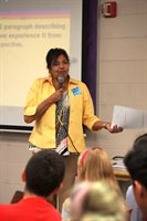 Mitali Perkins author visit to Chenery