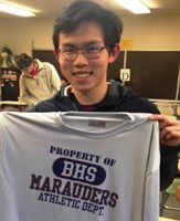 December 2019 Booster Athlete of the Month Ziyong Cui, BHS Indoor Track