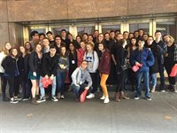 BHS Theater Students in NYC