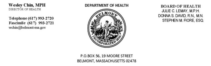 Belmont Town Department of Health Logo